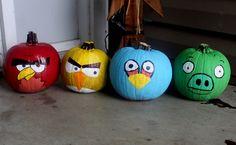 bird pumpkin, angri bird