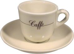 """Caffe"" Decorated Espresso/Demitasse Set"