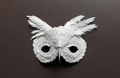 costum, craft, owl mask, paper mask, art