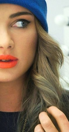 I love my orange lipstick. A great summer color and a great pop! when it is winter.