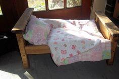 "Bed, Quilt & Bedspread for 18"" Dolls"