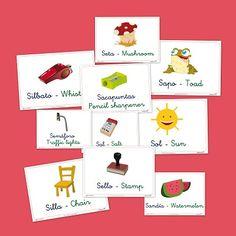 Fichas para repasar vocabulario: Letra S