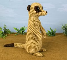Meerkat #crochet pattern by @June Kuiper Kuiper Kuiper Gilbank
