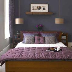 Purple wall colour.