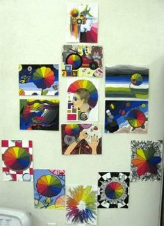art lessons, middle school, altern color, wheel idea, color wheels, art displays, color theori, lesson idea, school colors