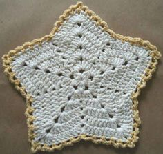 Christmas Star Crochet Dishcloth