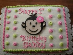 Pink Monkey Cakes For Girls | ... Deadly Sweets: Our Cakes Throughout the Years: Pink Mod Monkey Cake