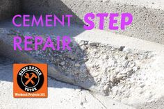 Need help repairing broken cement steps? Here's a step-by-step guide!
