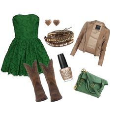 Wow, love everything...especially that green dress!