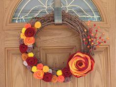 Rustic Fall Wreath -- Autumn Wreath--Thanksgiving Wreath