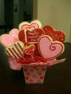 Valentine Cookie Bouquet #5
