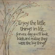 Little things...