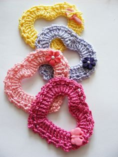 crochet heart - photo tutorial