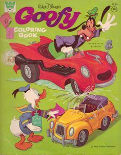 Goofy Coloring Book, Whitman #1154, 1970