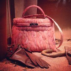 Pink feather Birkin Bag