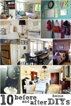 10 Great Before and After Home DIYs via Remodelaholic.com