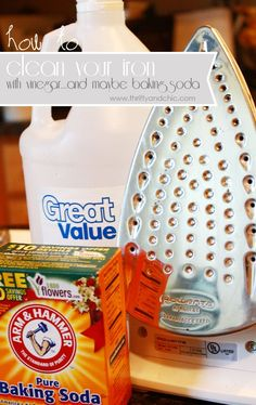 Keep your #iron clean by simply using vinegar and baking soda