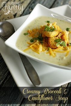 Creamy Broccoli Cauliflower Soup
