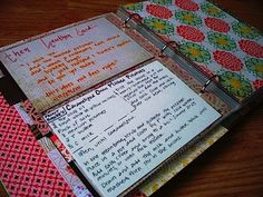 Photo Albums make great recipe files.  Mine is about 25 years old but not as pretty as this.  This would be a great shower gift or for someone setting up their first kitchen.