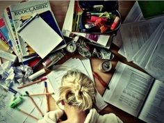 desk space, gir thing, colleges, 6 months, student, read books, need a vacation, school holidays, feelings