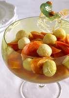Passover Carrot Tzimmes with Matzah Ball Dumplings recipe by Tina Wasserman
