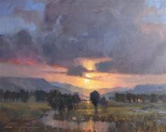 """Russell Sunrise"" - Original Fine Art for Sale - © V.... Vaughan"