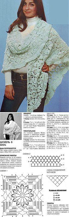 Knitting: crochet shawl