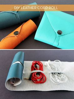 Gift For Dad: Make A DIY Leather Cord Roll » Curbly | DIY Design Community