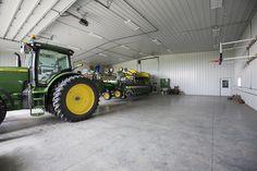 Morton Buildings machine storage facility interior in Lenox, Iowa.
