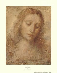 Christ's Head by Leonardo da Vinci