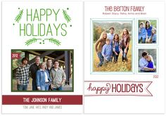 Signature Letterpress holiday cards