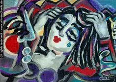 "Jacqueline Ditt - ""The Pain"" (Der Schmerz) 1998 original painting"