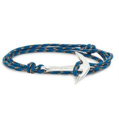 MiansaiRope and Silver Anchor Bracelet