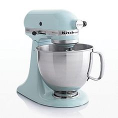 KitchenAid® Artisan Aqua Sky Stand Mixer | Crate and Barrel