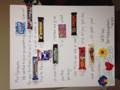 My first pinterest-inspired project...candy bar card.