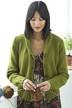 Portland Cardigan pattern from Lion Brand Yarns