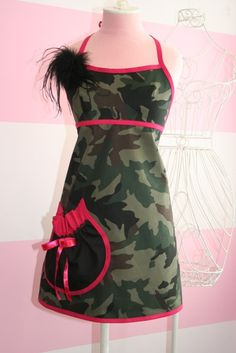 Kitchen Apron  Hunting Fishing  Camouflage and by theglamfinale, $30.00