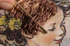 step 4c - How to stitch hair