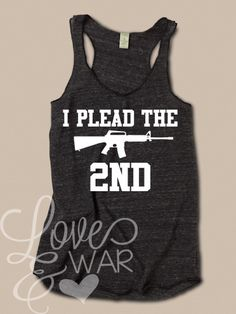 I plead the 2nd racer back tank top