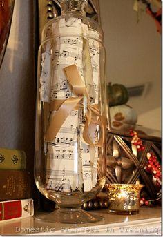 sheet music centerpiece