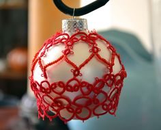 Tatted Ornament Cover #2 by c shultz, via Flickr