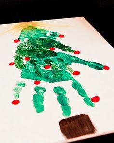 Handprint tree - Grandparents gift