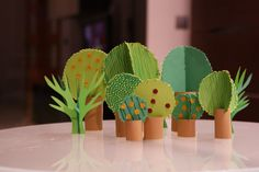 design tree, art, cactus craft, children, forest, papers, tini paper, paper trees, kid