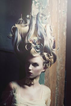 Modern take on Marie Antoinette's brilliant boat hair. So cool!! Should you require Fashion Styling Advice & More. View & Contact: www.glam-licious.webs.com
