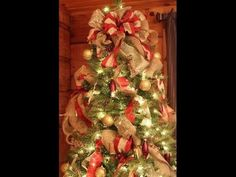 How to Decorate a Christmas Tree - Add ribbon to your tree like a pro!