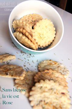 Sans lactose, la vie est rose Biscuit salé romarin & sel fou fou fou!