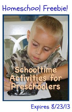 #Homeschool Freebie from Character Concepts: Schooltime Activities for Preschoolers