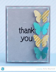 Thank You Card with Two-Toned Shapes by Kelly Wayment for Silhouette