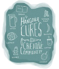 15 Hangover Cures from the Creative Community #hangovers #drinking #beer