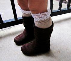Toddler girl lace boot socks, leg warmers, brown, light brown, gray, little girl fashion on Etsy, $13.99